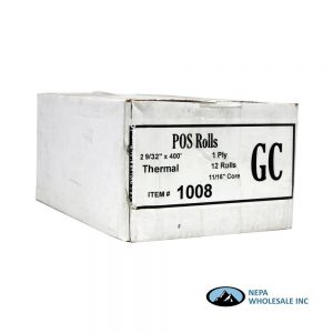 .POS 2 9/32X400 Thermal Rolls 12 Count/ Case
