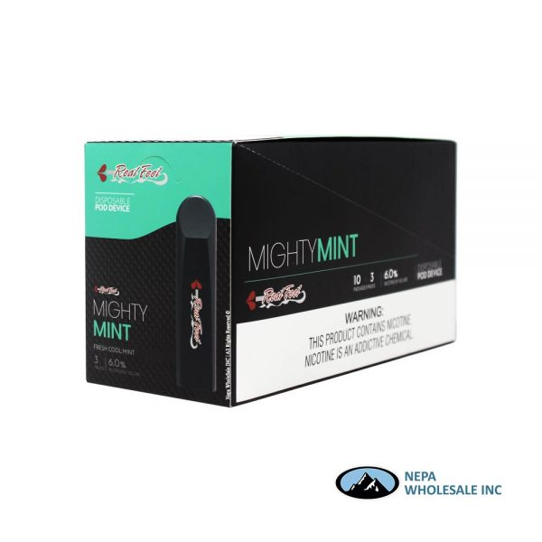 Real Feel 10-3PK Mighty Mint Disposable Pod Device