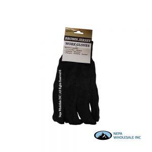 Brown Jersey Gloves 12 CT