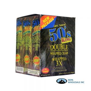 50's King Double Wrappes 50ct Natural