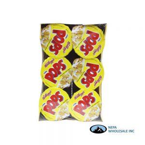 .Kelloggs Cup Cereal 6-1.5oz Corn Pops