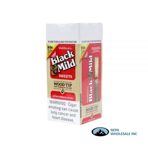 Black & Mild $0.89 Sweet Wood Tip 25CT