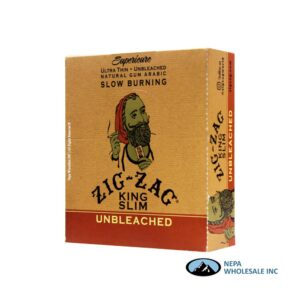 Zig Zag Superieure King Slim 24 Booklets Unbleached