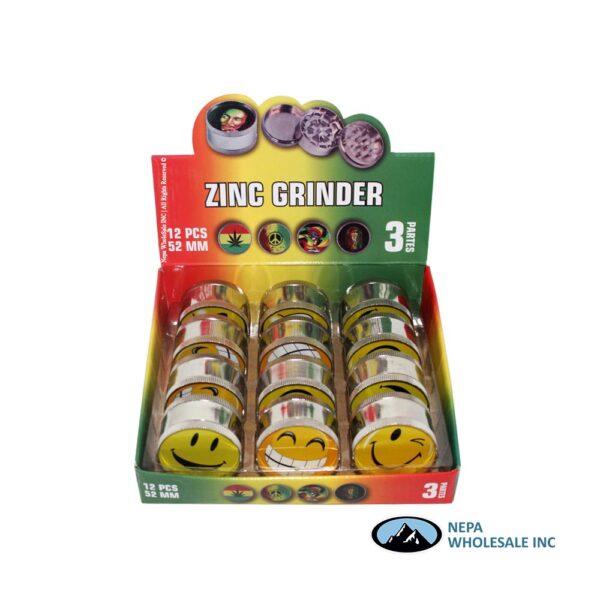 Grinder 3 Parts Smily Design 52mm