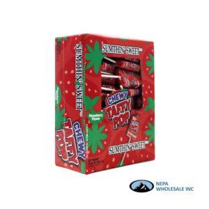 Sumthin' Sweet Taffy Pop Strawberry 48 CT