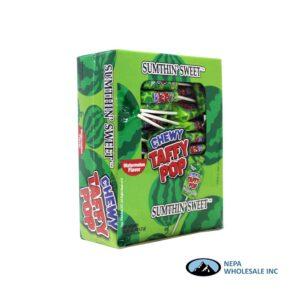 Sumthin' Sweet Taffy Pop Watermelon 48 CT