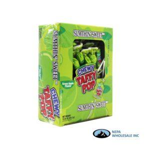 Sumthin' Sweet Taffy Pop Green Apple 48 CT