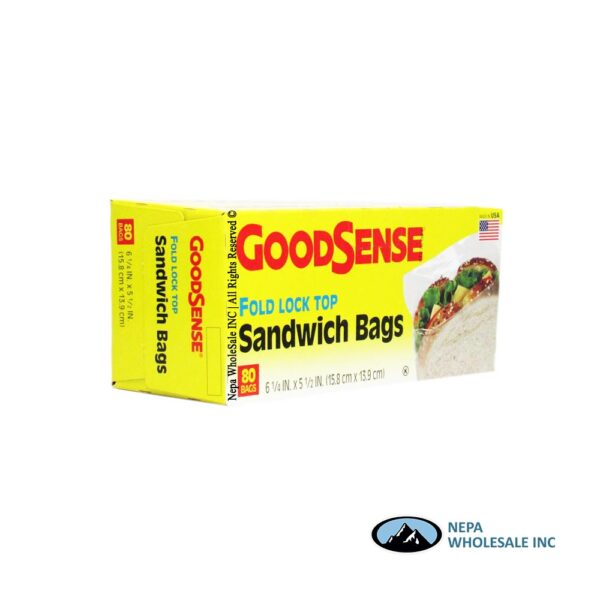 GoodSense Fold Top 80CT Sandwich Bags