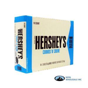 Hershey's 18-2.6 Oz Cookies 'n' Cream King Size