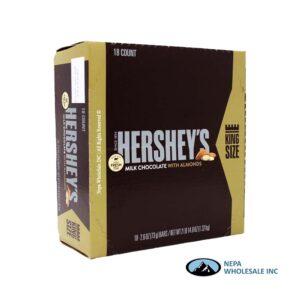 Hershey's 18-2.6 Oz Almond Milk Chocolate King Size