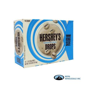 Hershey's 18-2.1 Oz Drops Cookies 'n' Cream King Size