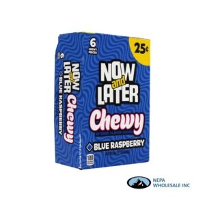 Now & Later 24-.93 Oz Chewy Blue Raspberry