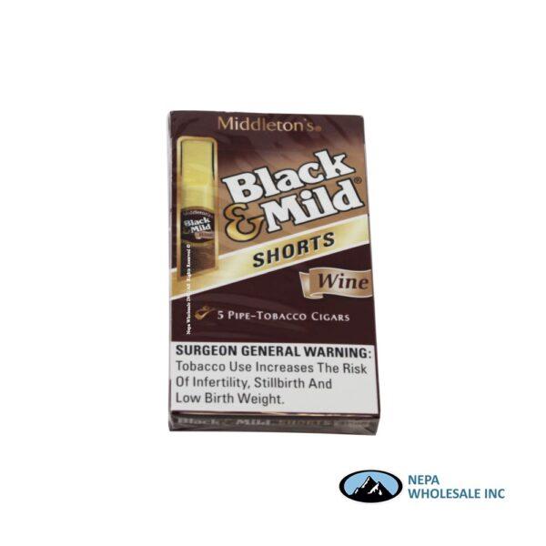 Black & Mild 10-5PK Short Wine