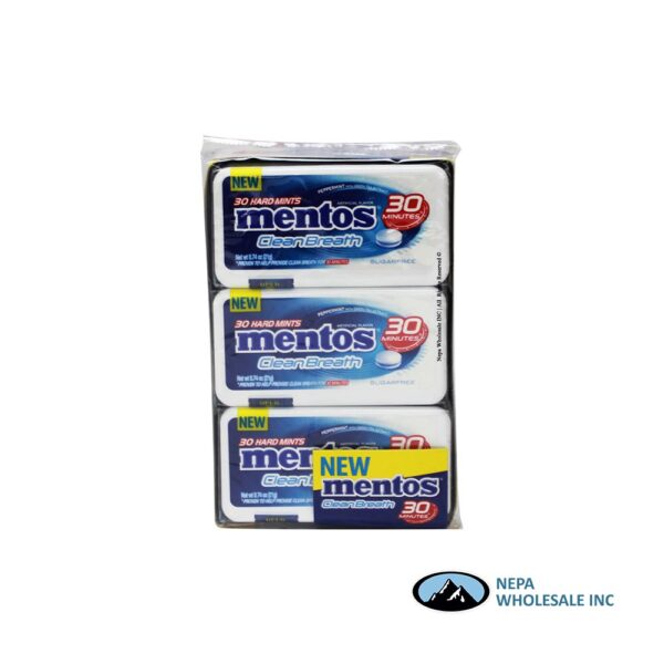 Mentos 12-30 Piece Peppermint Clean Breath