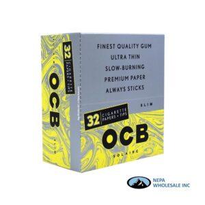 OCB Solaire Cigarette Paper + Tips 24 Packs Slim