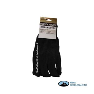 Brown Jersey Gloves 12 CT
