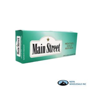 Main Street 100s Menthol Gold