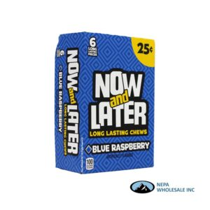 Now & Later 24-.93 Oz Blue Rasberry