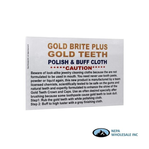 Gold Teeth Polish & Buff Cloth 8 CT