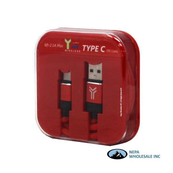 Y-Max 6ft Type C Cable 1 CT