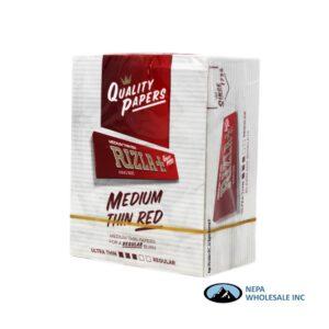 Rizla Cigarette Paper 50ct Medium Thin Red