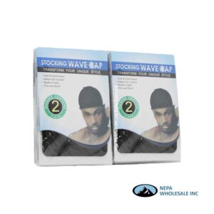 Stocking Wave Cap 12 CT Black