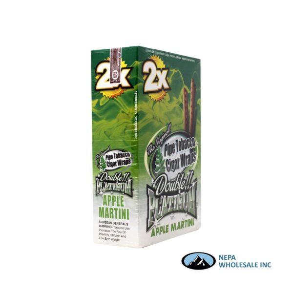 Double Platinum Cigar Wrap Apple Martini 25 CT