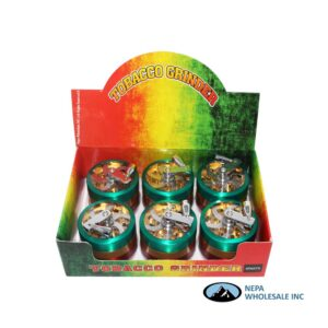Grinder (GR071-C) 4 Parts Hand Crank Rasta Color 60mm