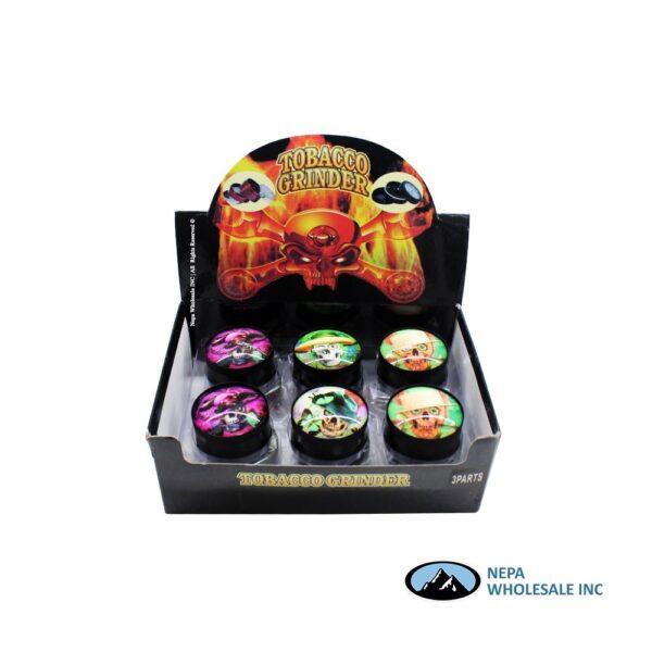 Grinder (GR154-52) 3 Parts Crystal Ball Assorted Design 52mm