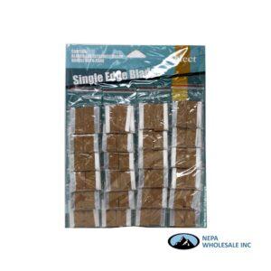 Single Edge Blade Carded (5/ Bag) 24 Bags/ Card