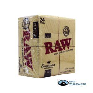 Raw Classic Connoisseur KS Slim + Tips 24 per Box