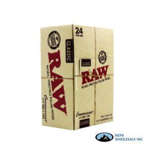 Raw Classic Connoisseur 1 1/4 + Tips 24 per Box