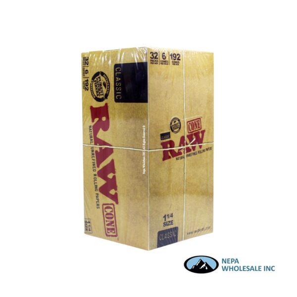 Raw Classic Cone 1 1/4 32 per Box 6 PK