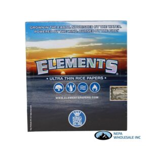 Elements King Slim 50 per Box Ultra Thin Rice Papers