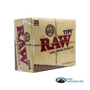 Raw Tips Pre-Rolled 20 per Box