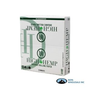 High Hemp King Size Slim Organic Rolling Paper 25 Booklets
