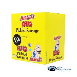 Hannah's 20-$0.99 Big Pickled Sausage