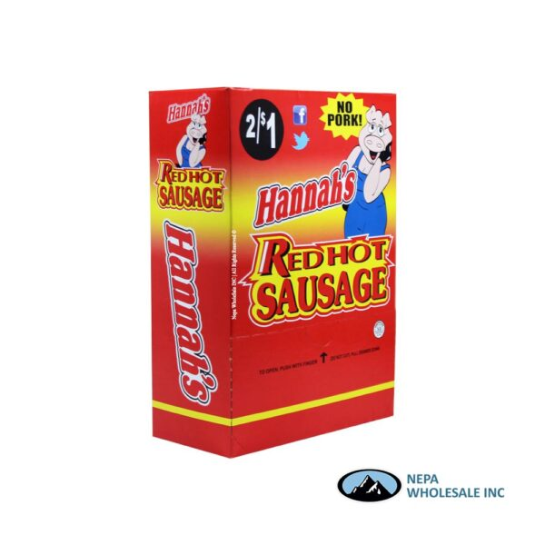Hannah's No Pork 2 for $0.99 Red Hot Sausage