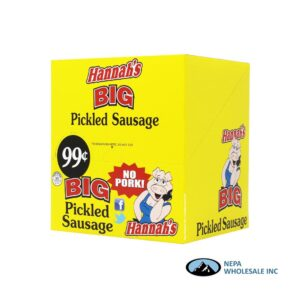 Hannah's No Pork 20-$0.99 Big Pickled Sausage