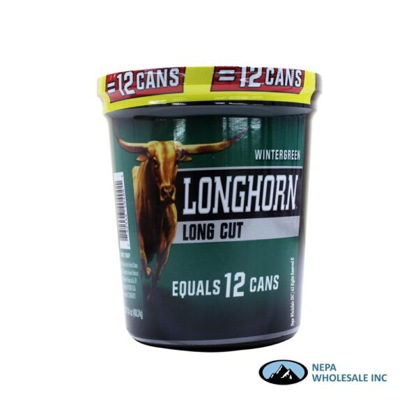 Longhorn 14.4 OZ Tub Long Cut Wintergreen
