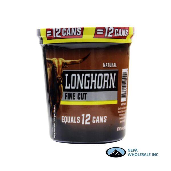 Longhorn 14.4 OZ Tub Fine Cut Natural