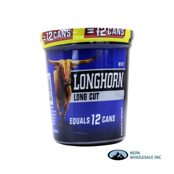 Longhorn 14.4 OZ Tub Long Cut Mint