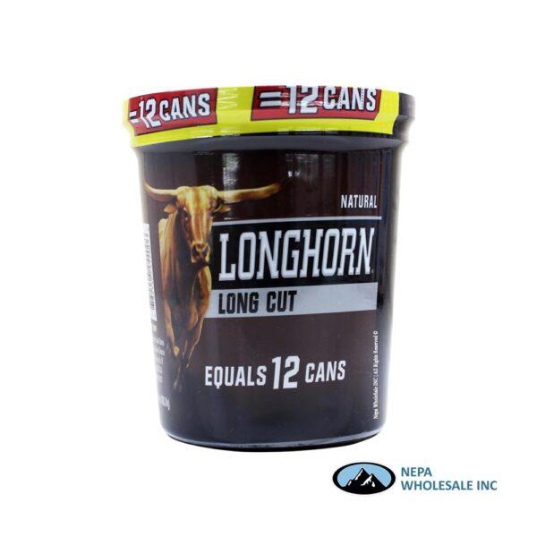 Longhorn 14.4 OZ Tub Long Cut Natural