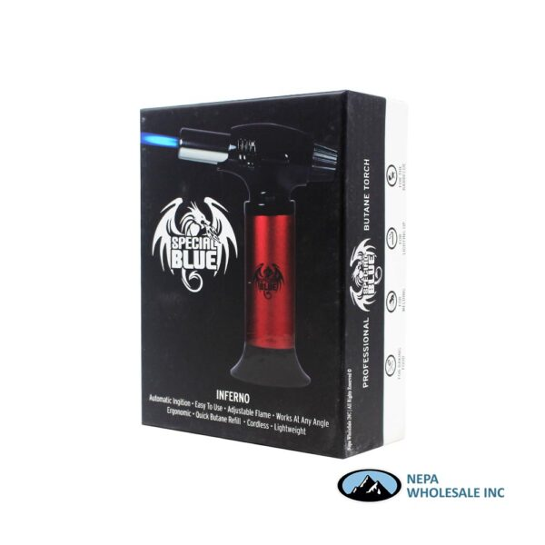 Special Blue Inferno Red Butane Torch 1 CT
