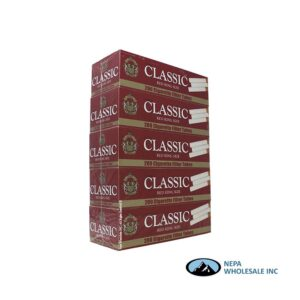 Classic KS Red Cigarette Filter Tubes 200 CT - 5 PK