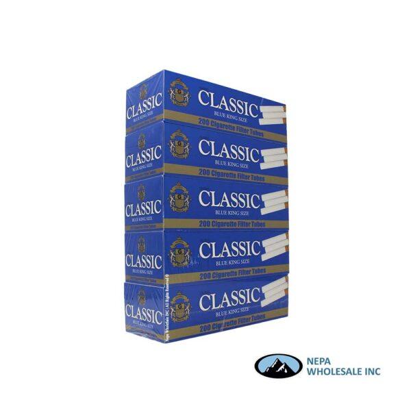 Classic KS Blue Cigarette Filter Tubes 200 CT - 5 PK