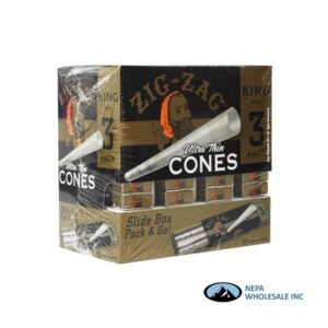 Zig Zag Cone King Size Gravity Display 36 Packs