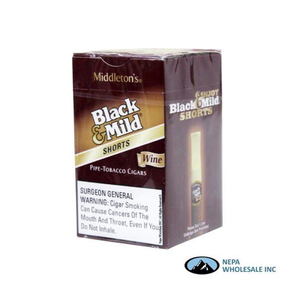 Black & Mild 25CT Short Wine