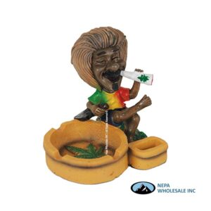 Jamaican LT71 Poly Resin Ashtray 1CT