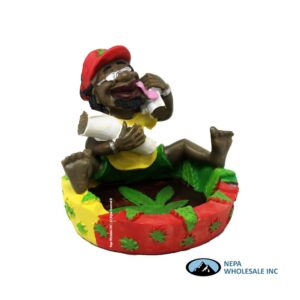 Jamaican LT117 Poly Resin Ashtray 1CT